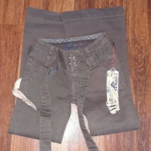 Miss Me gray khaki Jean's for girls Size 7